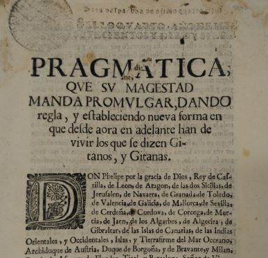 Spanish documents about the Gitanos in the Fraser Collection