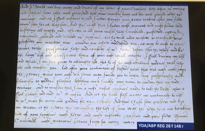 Digitised excerpt from Henry VIII's divorce from Anne of Cleves (Archbishops' Registers)
