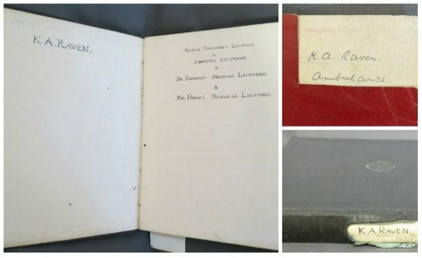 Kathleen Raven's notebooks