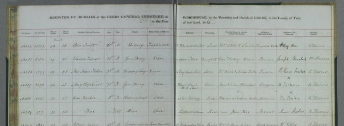 Leeds General Cemetery burial records now online