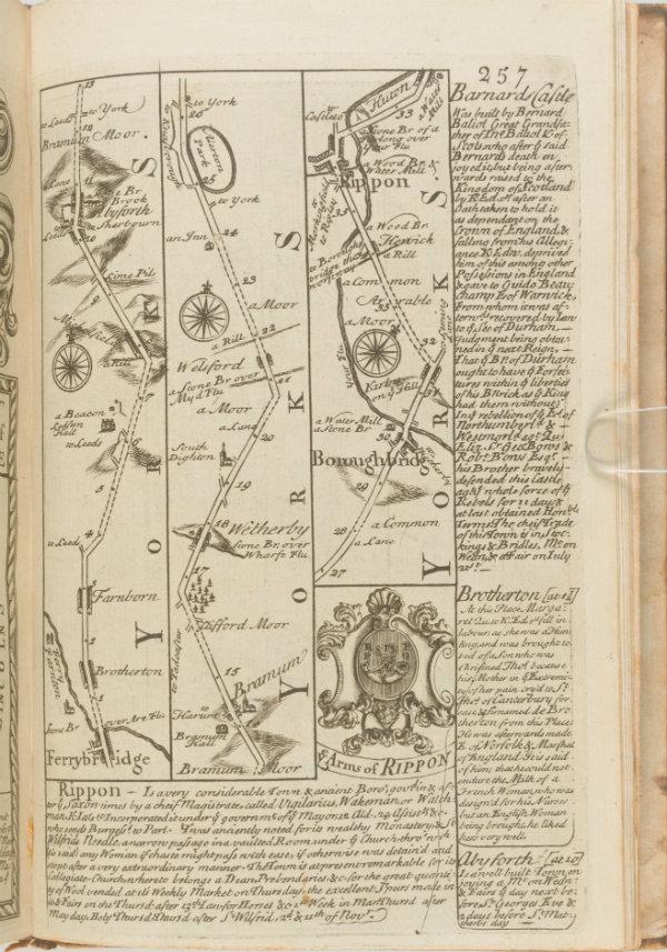 Map showing Ripon
