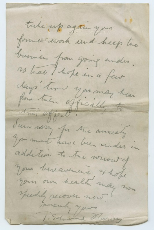 Letter from T. Edmund Harvey