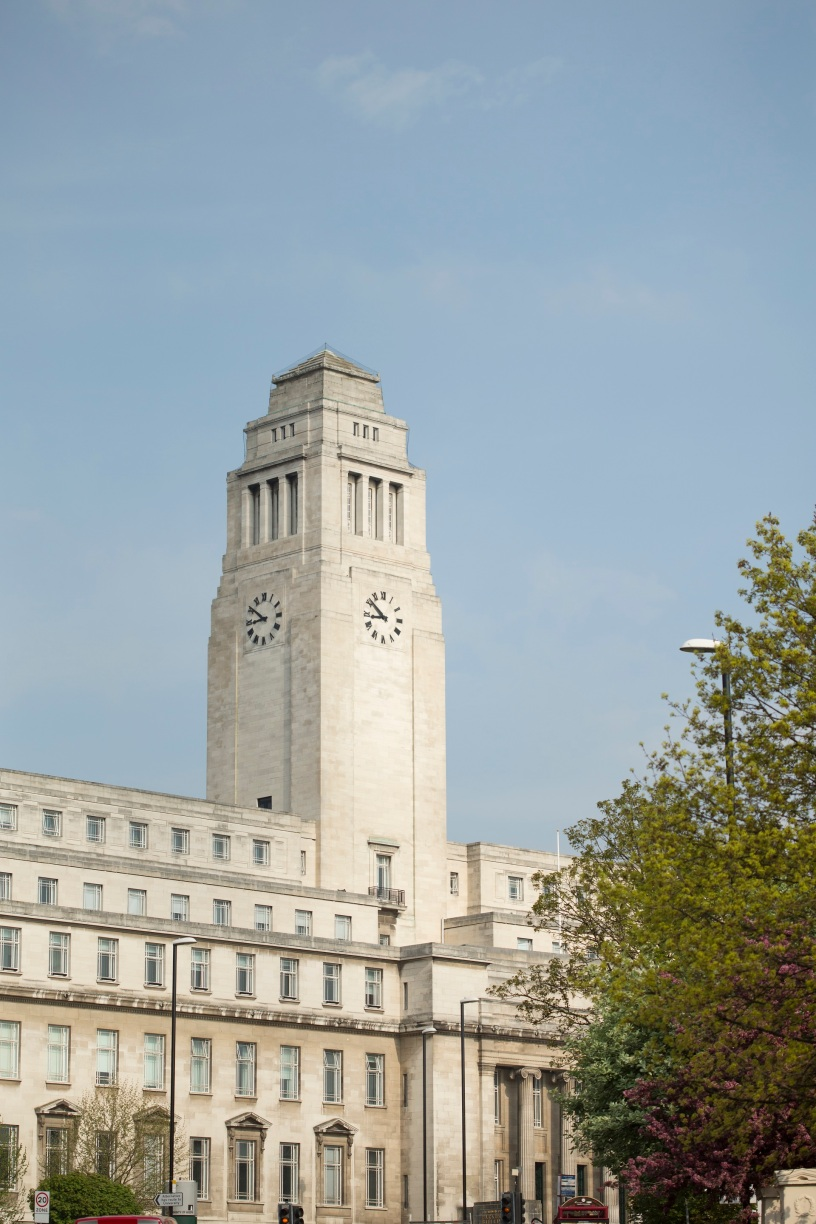 Image shows the Parkinson tower and a blue sky