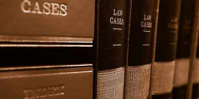 Images shows large hardback books with the title 'Law Cases'
