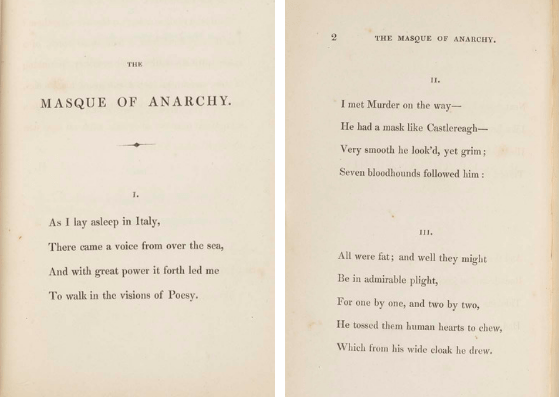 The Masque of Anarchy by Percy Bysshe Shelley