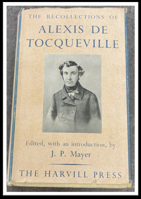 image of cover of 'Recollections' by Toqueville