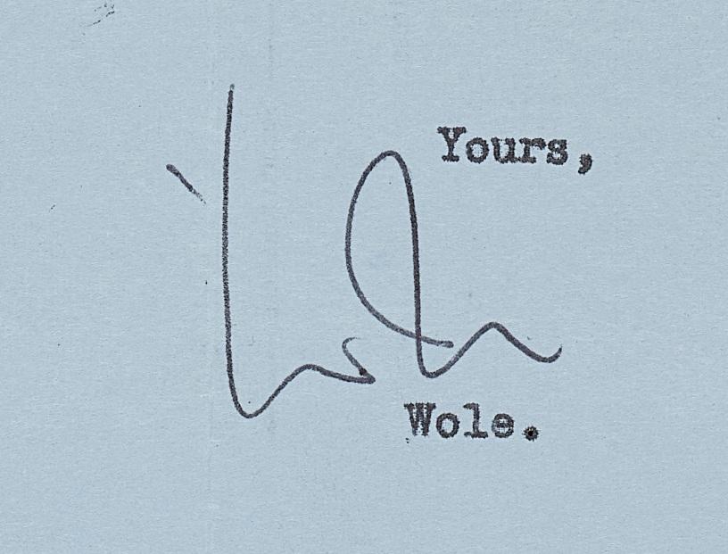 Soyinka's signature