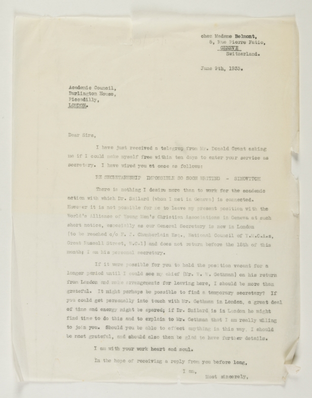 image of letter from Simpson