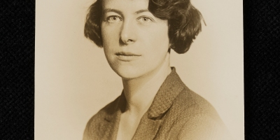 black and white photo of Esther Simpson