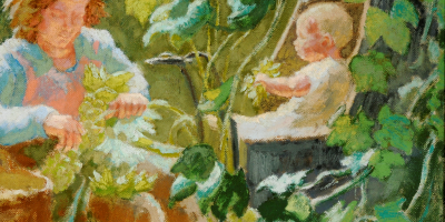 Hop Pickers by Thérèse Lessore.